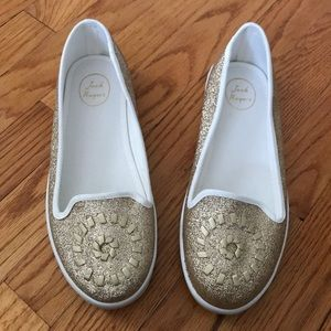 Shoes - NWOB Jack Rogers Mila Slip-Ons in Gold Glitter